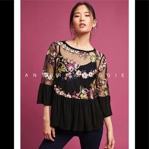 Anthropology eri + ali 🌹shirt top blouse tunic 💐